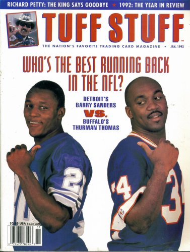 Tuff Stuff Trading Card Magazine : Barry Sanders vs. for sale  Delivered anywhere in USA