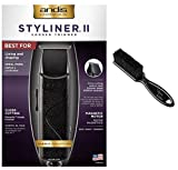 Andis Professional Styliner II Beard/Hair Trimmer, Black, Model SLII (26700) with The Classic Barber Blade Brush