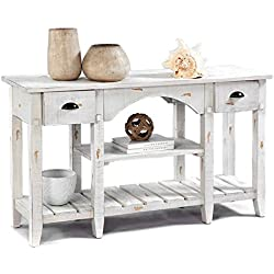 "Progressive Furniture T410-55 Willow Console Table, 52 x 16 x 30"", White"