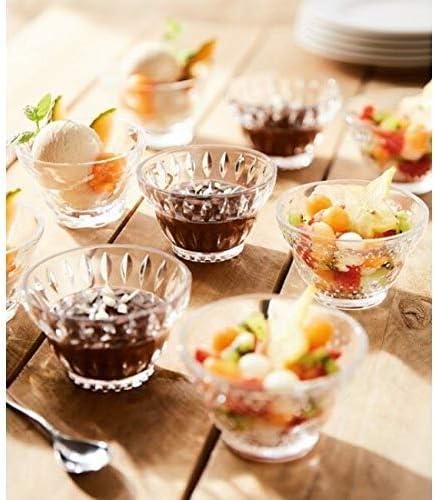 Luminarc Vintage Retro Petal Ice Cream Sundae Dessert Bowl Dish Glass Set of 4 350 ml