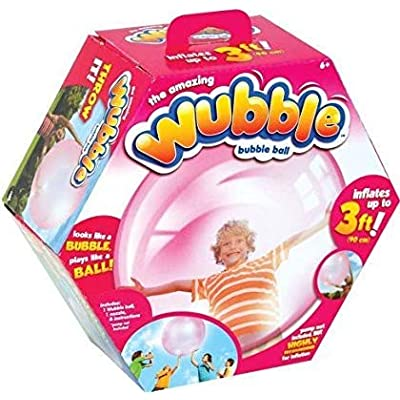 The Amazing WUBBLE BUBBLE Ball ~ PINK ~ NO PUMP by NSI: Toys & Games