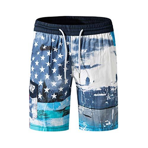 - Men's Fashion Printing Shorts,Fashion Casual Drawstring Beach Surfing Swimming Loose Short Pants By Mlide(Gray,Large)