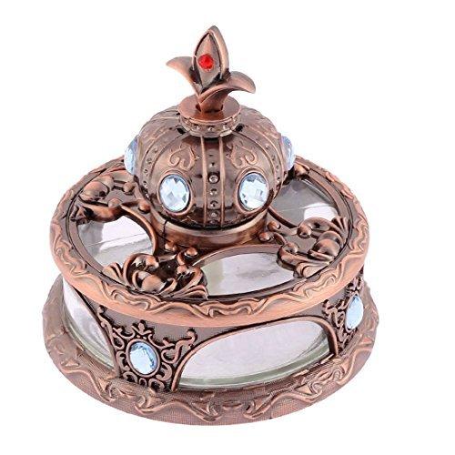 eDealMax assainisseur Couronne Forme parfum Bloc de base Diffuseur Cuivre Tone
