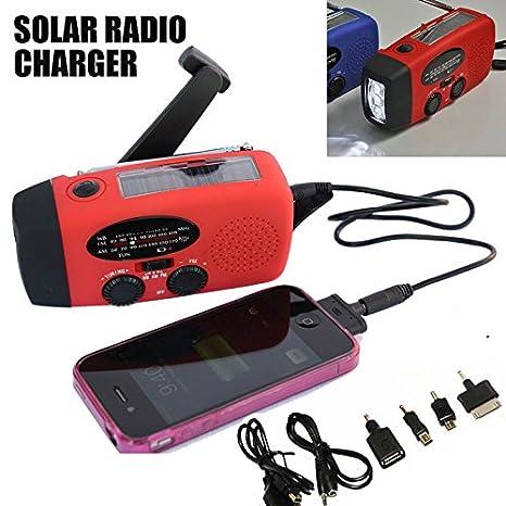 jassby (TM) nueva Solar dinamo con radio manivela AM/FM 3 ...