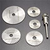 GENERIC 6Pcs Hss Saw Blades Circular Saw Blades Mandrel Cutter Rotary Tool