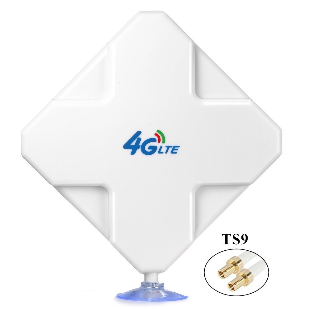 TS9 4G LTE Antenna, Aigital 35DBi High Gain MIMO Network Antenne Cell Phone Booster Amplifier External Omni Directional Adapter for 4G WiFi Router Mobile Broadband Hotspot Outdoor Signal Extender