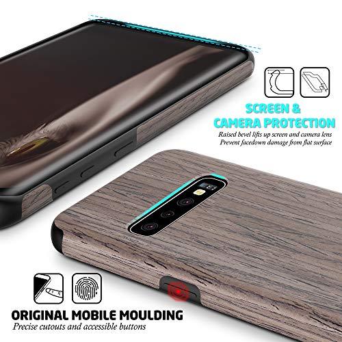 04826fd2ec4f4 Galaxy S10 Case, [Slim to Beat] Soft Wood Air Cushion Premium Rubber ...