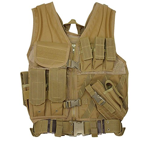 VooDoo Tactical 20-8112007335 MSP-06 Entry Assault Vest, Coyote, Medium/X-Large
