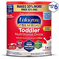 Enfagrow Premium Omega 3 DHA Prebiotics Non-GMO Toddler Nutritional Milk Drink, Natural Milk Flavor, Powder, 32 oz (Pack of 6)