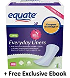 Equate Everyday Pantiliners Long, 108 count (2 Packs + Free Ebook)