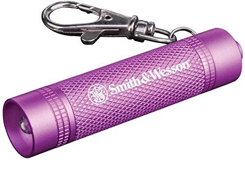 Smith & Wesson Galaxy Ray Pink Flashlight with Keychain Clasp and Water Resistant Construction for Survival, Hunting and Outdoor