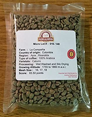 Colombian Green Unroasted Coffee Beans 3- Pounds Single Origin Farm - La Compañia from Flor de Apia