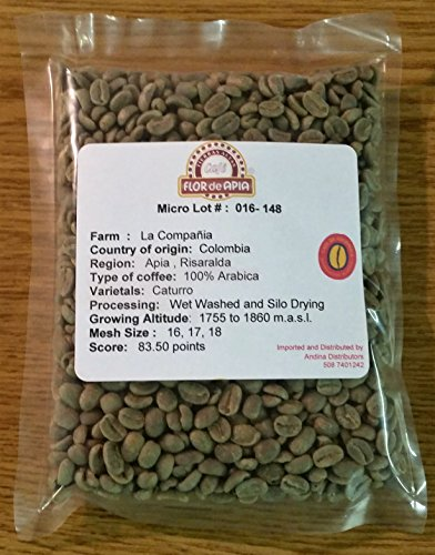 Unroasted Coffee Beans, 3 Lb Single Origin Farm - La Compañia, Green Colombian Coffee Beans by Micro Lot # 016- 148