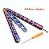 RioRand Handle Practice Multicolored Knife Trainer Can Self-Accur adjusting (No Offensive Blade)