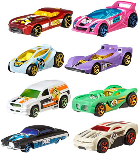 UPD Hot Wheels 2019 Disney 90th Anniversary Edition Exclusive 8 Car Gift Set, Multicolor