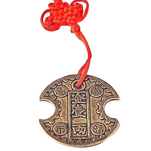 Feng Shui Nanbu Wealth Lock Coin Amulet Charm + One Free fengshuisale Red String Bracelet SKU:Y1005