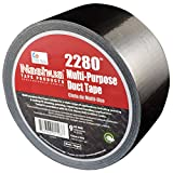 NASHUA 2280 Black Duct Tape, Bulk Pack, Full Case, 72mm x 55M, 16 Rolls
