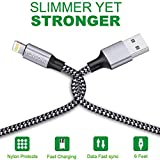 iPhone Charger, YUNSONG 3Pack 6FT Nylon Braided