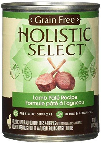 Holistic Select Natural Grain Free Wet Dog Food - Lamb Pate - 12x13 oz