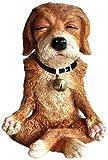Cheap Top Collection Miniature Fairy Garden and Terrarium Dog in Meditation Statue