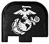 Molon Labe Laser Engraved Rear Cover Plate for Glock 43 Pistols - Marine Anchor