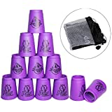Quick Stacks Cups, 12 PC of Sports Stacking Cups Speed Training Game (Generation 3 Purple)