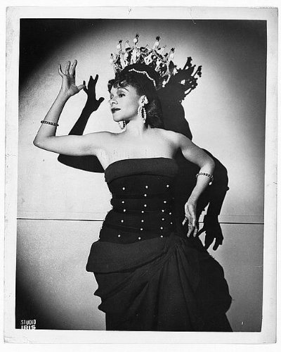 [Photo: Katherine Dunham,1909-2006,dancer,songwriter,1956] (Dance Studio Costumes Companies)