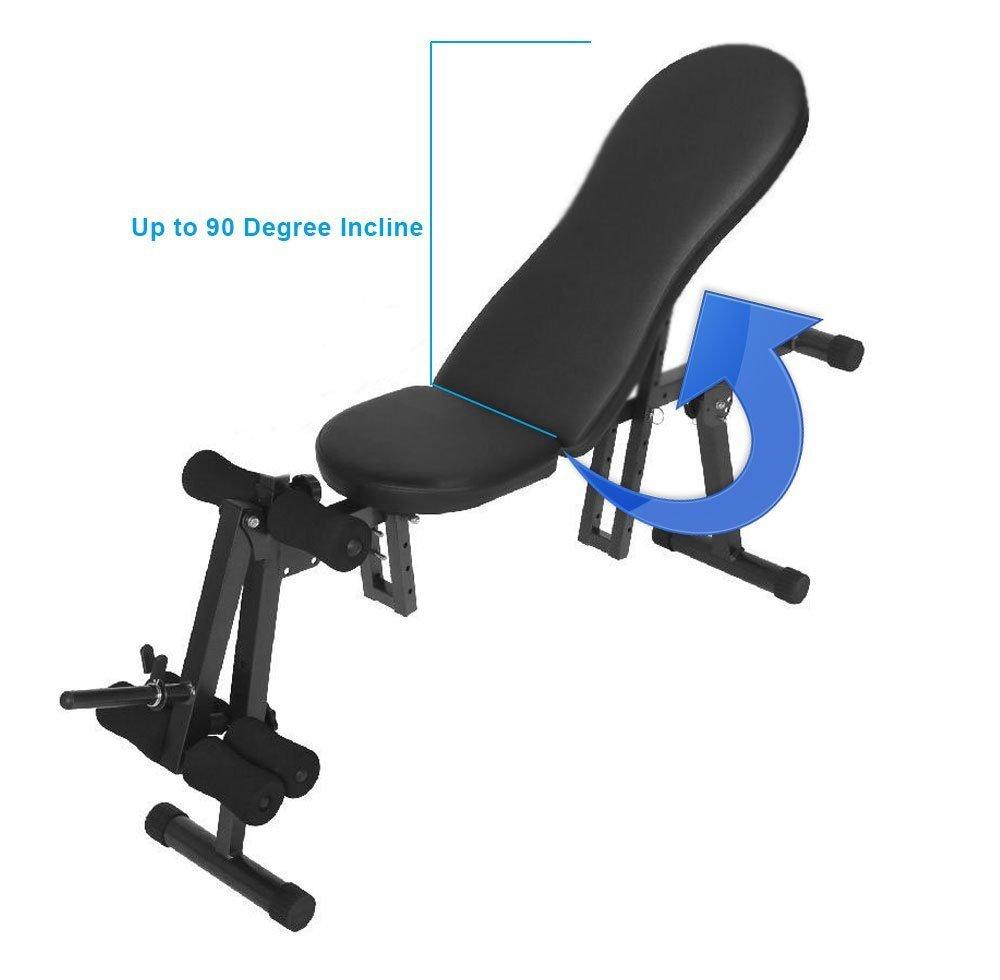 Jll abdominales banco multi-función fitness banco, construcción de acero resistente, inclinación ajustable/vinatero ejercicio equipo casa.