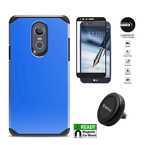 LG Stylo 4 Case, Hybrid Shockproof Slim Hard Cover Protective Case for LG Stylo 4 / LG Stylus 4 + Air Vent Magnetic Car Mount ()
