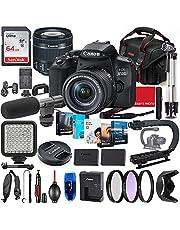 $989 » Canon EOS 850D (Rebel T8i) DSLR Camera with 18-55mm STM Lens Photo-Video Creator Bundle + Premium Bundle Including 64GB Memory, Microphone, LED Light, Stabilization Grip, Software Package, Bag & More