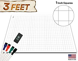 Amazon Com Battle Grid Game Mat 36 Quot X 24 Quot 1 Inch Role