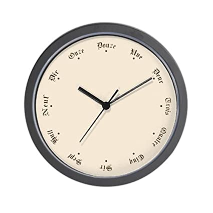 Amazon com: CafePress Quaint Wall Clock With French Numbers