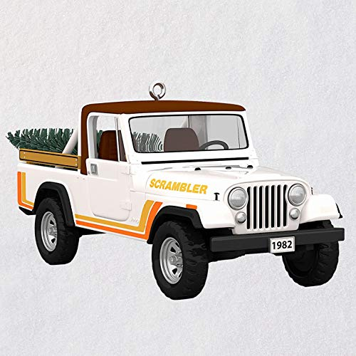 Hallmark Keepsake Christmas Ornament 2019 Year Dated All- All-American Trucks 1982 Jeep CJ-8 Scrambler, Metal,