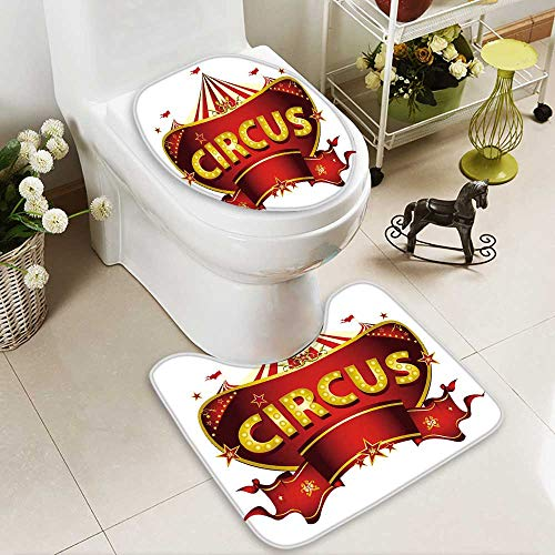 HuaWuhome Carpet Floor mat Red Circus Sign Non-Slip Soft Absorbent Bath - Patriots New Neon England Sign