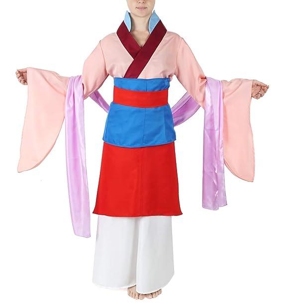 CoolChange Vestido Tradicional Chino, Disfraz de Mulan, tamaño: M ...