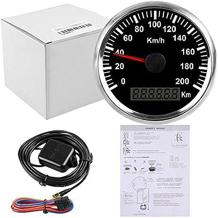Eling impermeable GPS velocímetro odómetro 200 km/h para coche moto Buggy con retroiluminación 85 mm 12 V/24 V