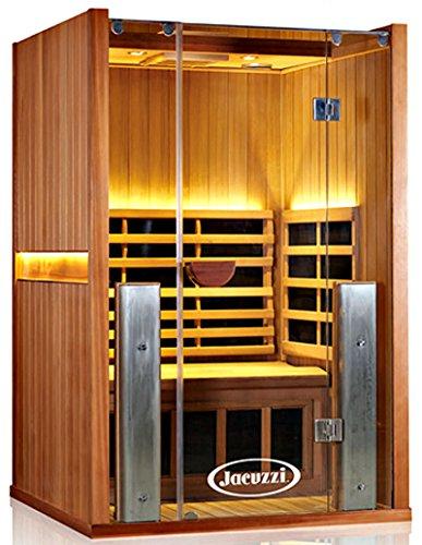 2 Person Sauna ClearLight Jacuzzi Sanctuary Full Spectrum 2-FS Red Wood Cedar - Infrared FAR Fused Carbon Wave & Ceramic Heat Low EMF - Chromotherapy Light (Spectrum Wood)