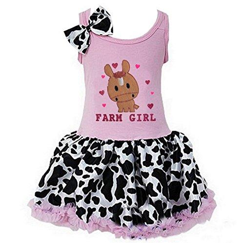 Cowgirl Tutu - Kirei Sui Girls Farm Girl Horse Light Pink Cowgirl Tutu Dress Small Pink