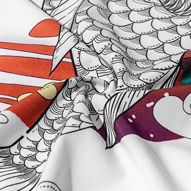 FLY FLU Męskie Kimono Cardigan Jacke Japanischer Stil Yukata Sieben Ärmel Open Front Coat Regular Fit,Carppersonalityprinting-USL/TagXL: Küche & Haushalt