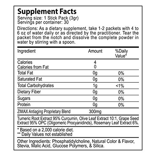 Zimax Super Antioxidant 100% Natural High Absorption Curcumin, Rosemary Extract, Grape Seed Extract, Olive Leaf Extract ORAC 3,451,770 (Canister) by Paleolf (Image #2)