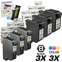 LD © Remanufactured Replacement Ink Cartridges for HP 45/78 Combo Set - 3 Remanufactured HP 45/51645A and 3 Reman HP 78/ C6578DN + Free 20 Pack of LD Brand 4x6 Photo Paper