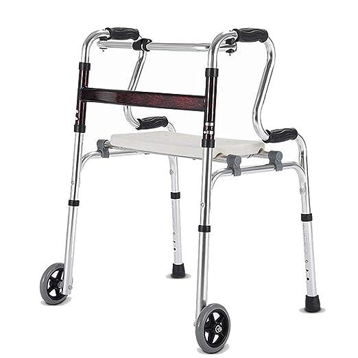 Alexzh_Rollator Andador Plegable multifunción Sentado y ...