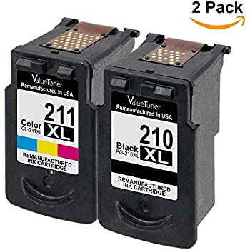 Valuetoner Remanufactured Ink Cartridge Replacement for Canon PG-210XL CL-211XL (2 Pack) for Canon PIXMA IP2702 IP2700 MP230 MP240 MP250 MP270 MP280 MP480 MP490 MP495 MP499 MX320 MX330 MX340 MX420