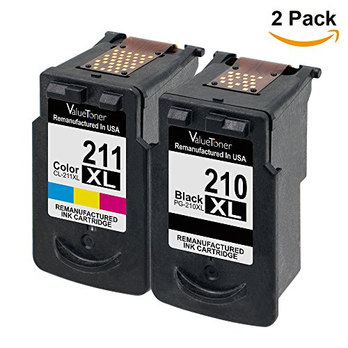 Valuetoner Remanufactured Ink Cartridge Replacement PG-210XL CL-211XL (2 Pack) for PIXMA IP2702 IP2700 MP230 MP240 MP250 MP270 MP280 MP480 MP490 MP495 MP499 MX320 MX330 MX340 MX420