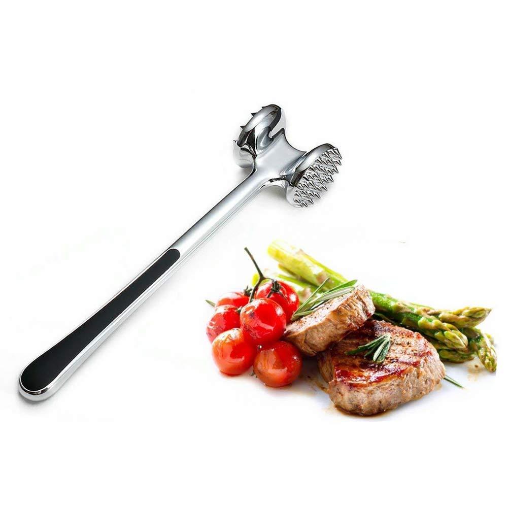 Boucher en Acier Inoxydable Marteau /à Glace cass/é bifteck Double Face de 304 pi/èces Marteau /à Viande battant Pozodul Attendrisseur de Viande 1 pi/èce Gadgets de Cuisine