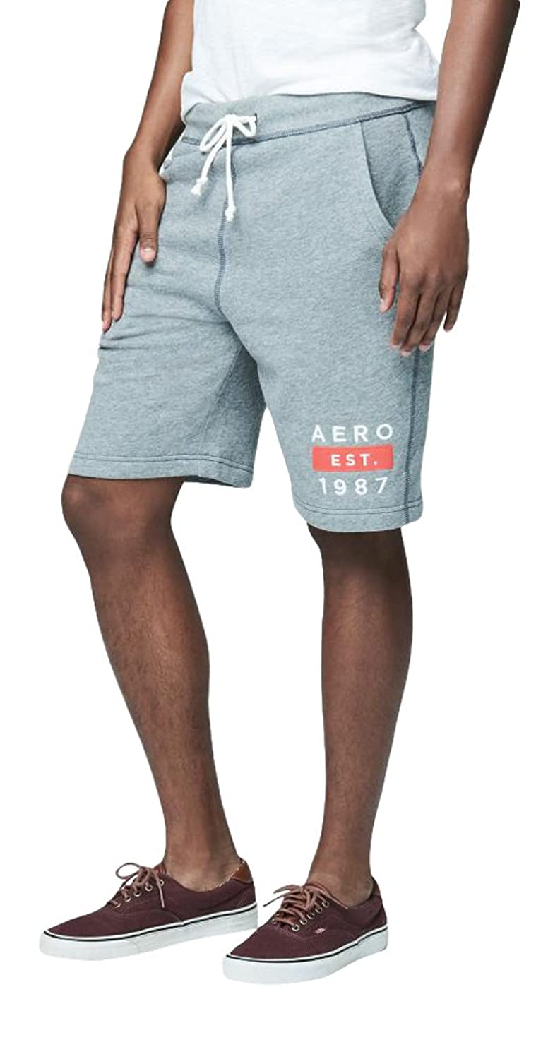 Aeropostale Men's Aero 1987 Knit Jogger Shorts