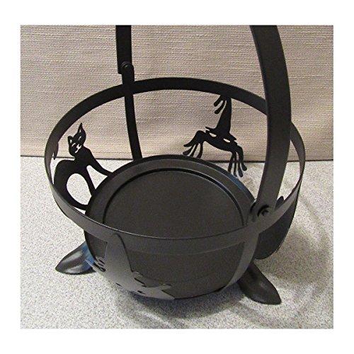 Longaberger Large Black Wrought Iron Halloween Character Cauldron Holder Retired