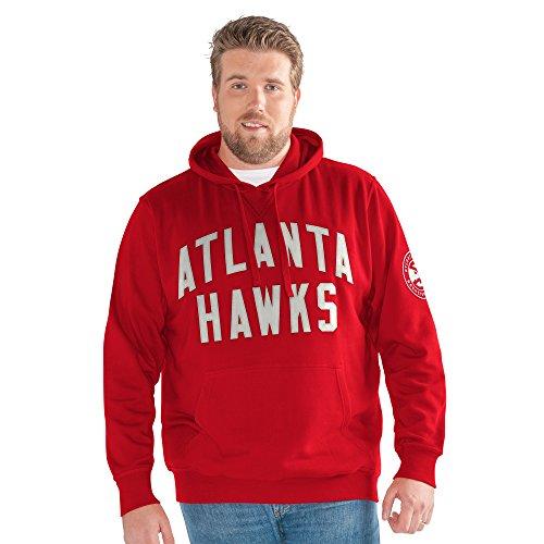 G-III Sports NBA Atlanta Hawks Adult Men Big Man Jump Shot Pullover Hoody, 5X, Red