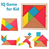 Vibgyor Vibes™ & Piece Wooden Tangram Puzzle for mind development of Kids