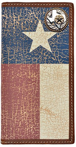 (Custom Texas Rope and Star Long Wallet with Distressed Texas Lone Star Flag)